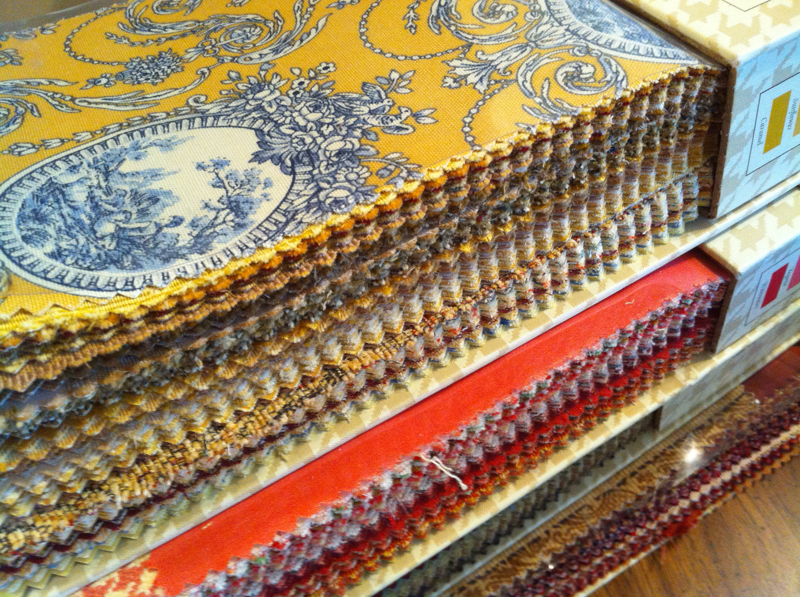 Fabric samples reupholstery